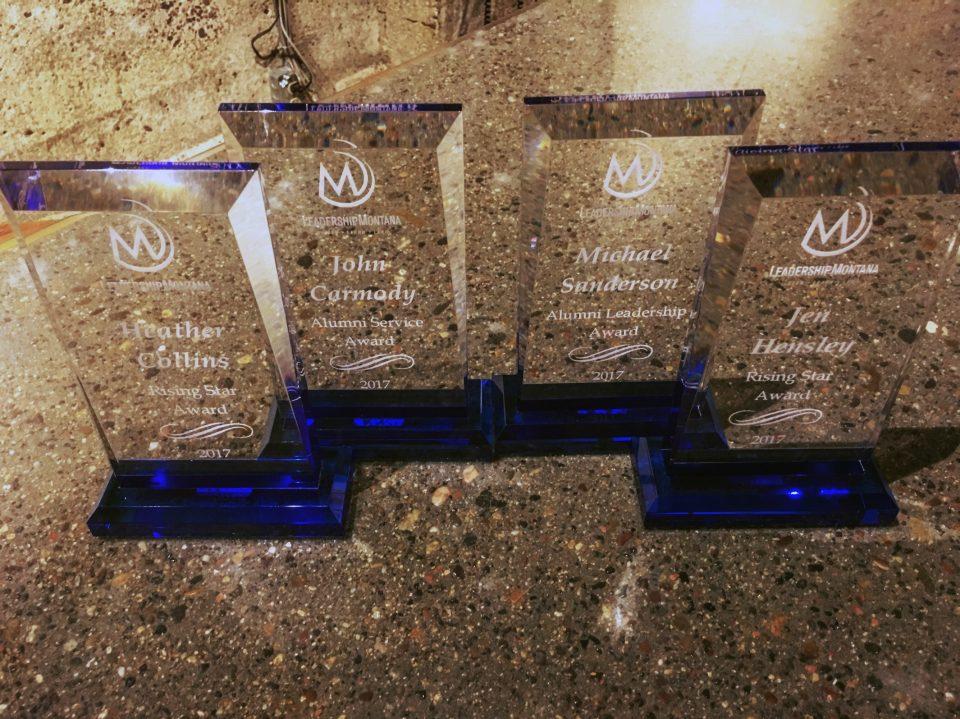 Alumni Award plaques
